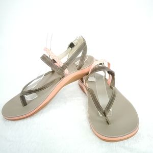Chaco Brown Pink Chevron Sandals Size 8